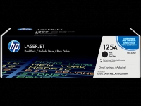 HP 125A - 1 Stück aus 2-pack Black Original LaserJet Toner Cartridges, CB540AD